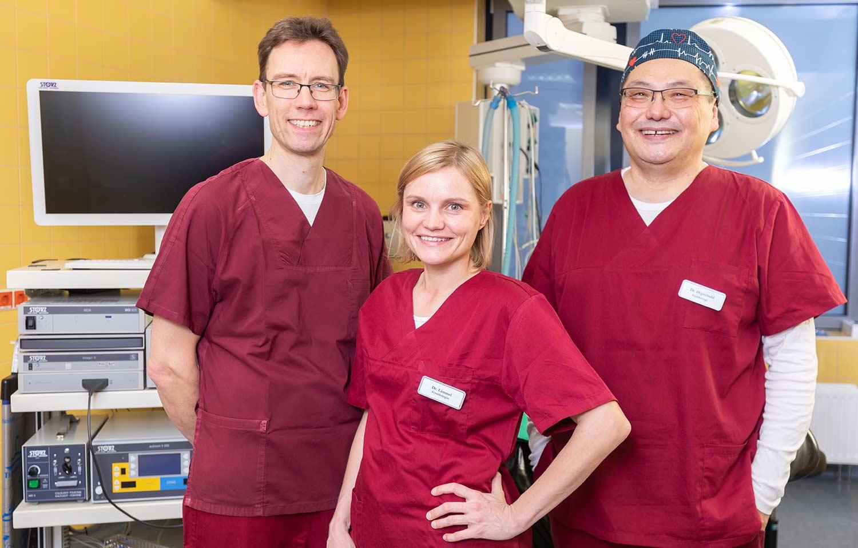 Dipl. Med. Armin Kühn, Dr. Christiane Lämmel und Dipl. Med. Otgonbold A.